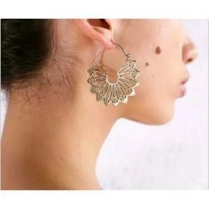 Cosima Gold Boho Hoop Earrings
